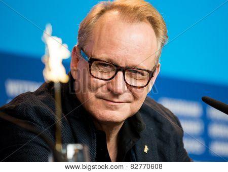 BERLIN, GERMANY - FEBRUARY 13: Stellan Skarsgard, 'Cinderella' press conference, 65th Berlinale International Film Festival at Grand Hyatt Hotel on February 13, 2015 in Berlin, Germany