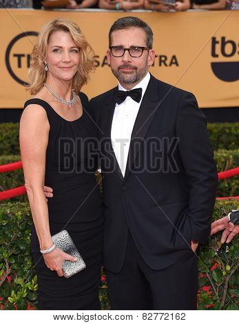 LOS ANGELES - JAN 25:  Steve Carell arrives to the 21st Annual Screen Actors Guild Awards  on January 25, 2015 in Los Angeles, CA