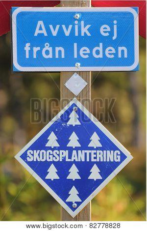 Swedish Information Signs