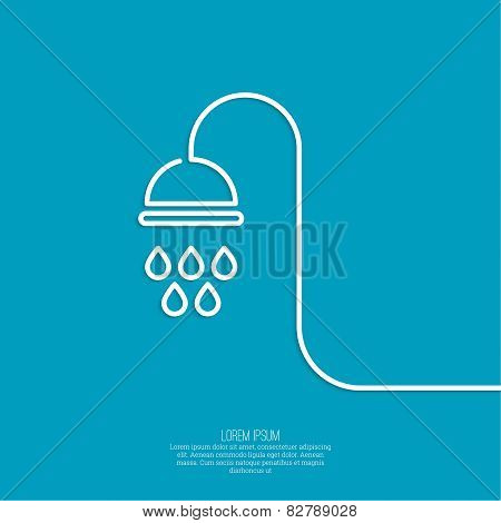 Shower handle.