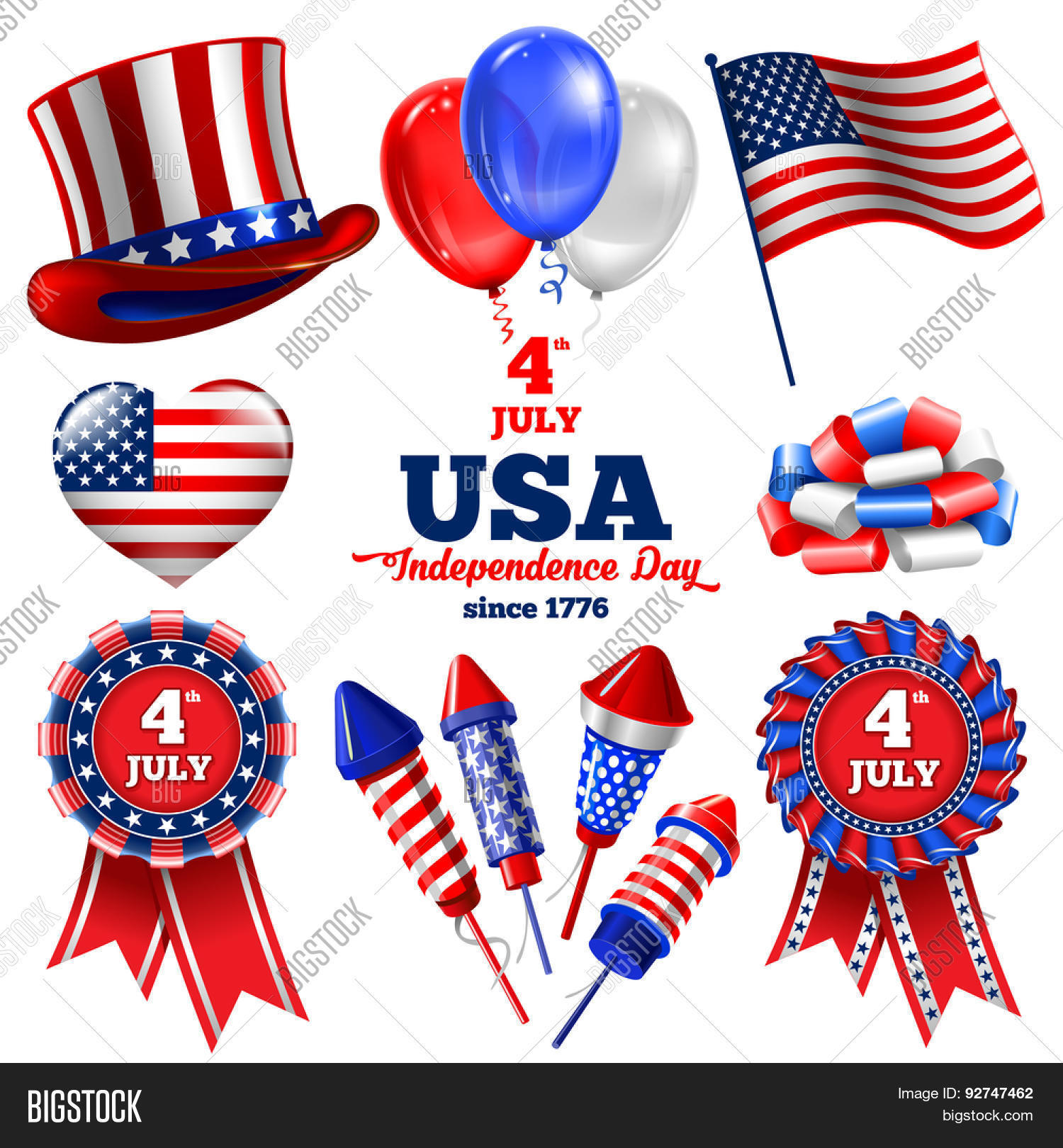 4th July Independence Day United Vector Photo Bigstock