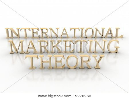Brass 3D Letter Spelling International Marketing Theory