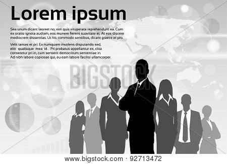 Business People Group Silhouette Executives Team