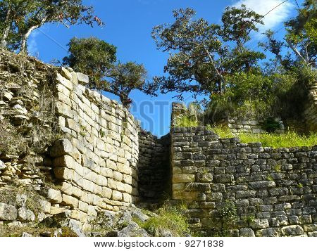 Kuelap (Ku?©lap) - Fortress Chachapoyya civilization, conquered the Incas. It was built in the X century and lasted until around XVI century. Located in the Amazonas region in Peru. poster