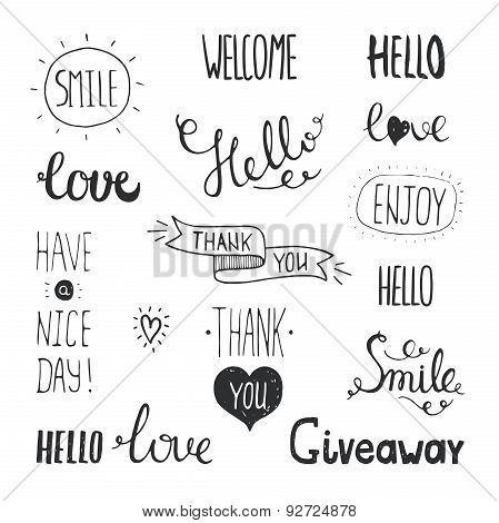 hand drawn lettering expressions