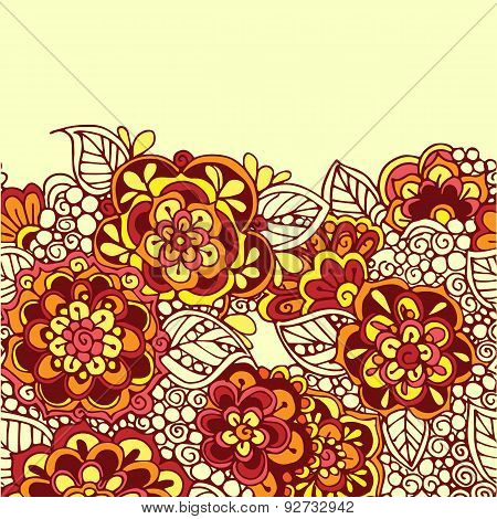 Seamless vector zentangle ornamental background