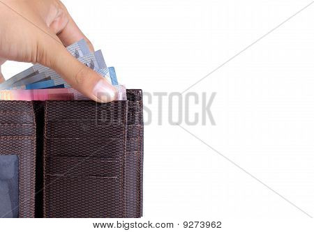 gesture of hand taking money from wallet