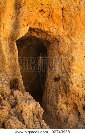 Sandstone Tunnel Entrance