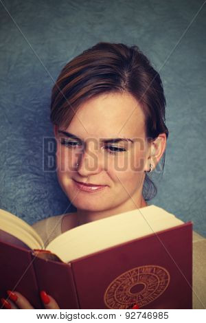 Students girl with book