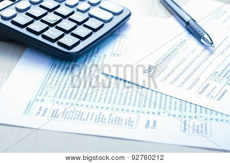 Tax Form And Financial Concept