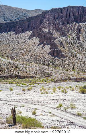 Valley Of Quebrada De Humahuaca, Central Andes Altiplano, Argentina