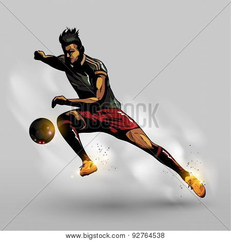 Abstract Soccer Passing Ball