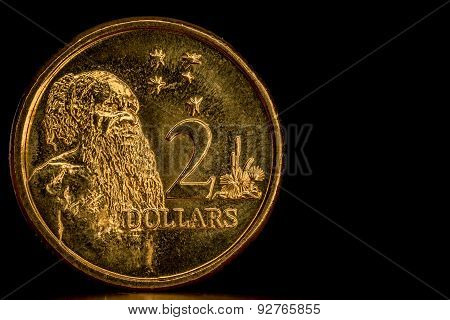 Circulated Australian 2 Dollar Coin