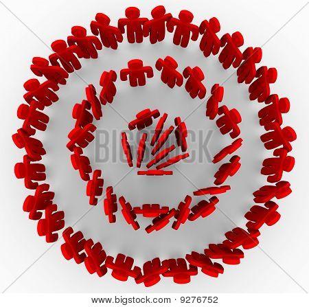 Zielgruppen In rote Ringe von Bullseye