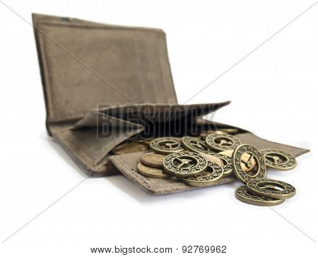 Scattering Of Coins From Her Purse