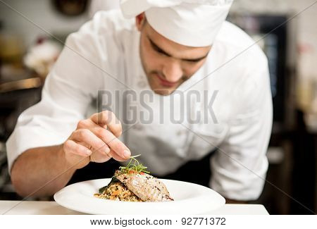 Grilled Tuna Fish With Vegetables