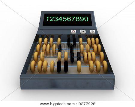 Calculator-abacus Isolated On White Background