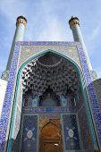 Imam(Shah) Mosque ceiling in Naqsh-e Jahan Square, Esfahan poster