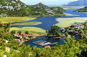 Karuc village on Lake Skadar Montenegro the largest lake in the Balkan Peninsula. National Park. poster