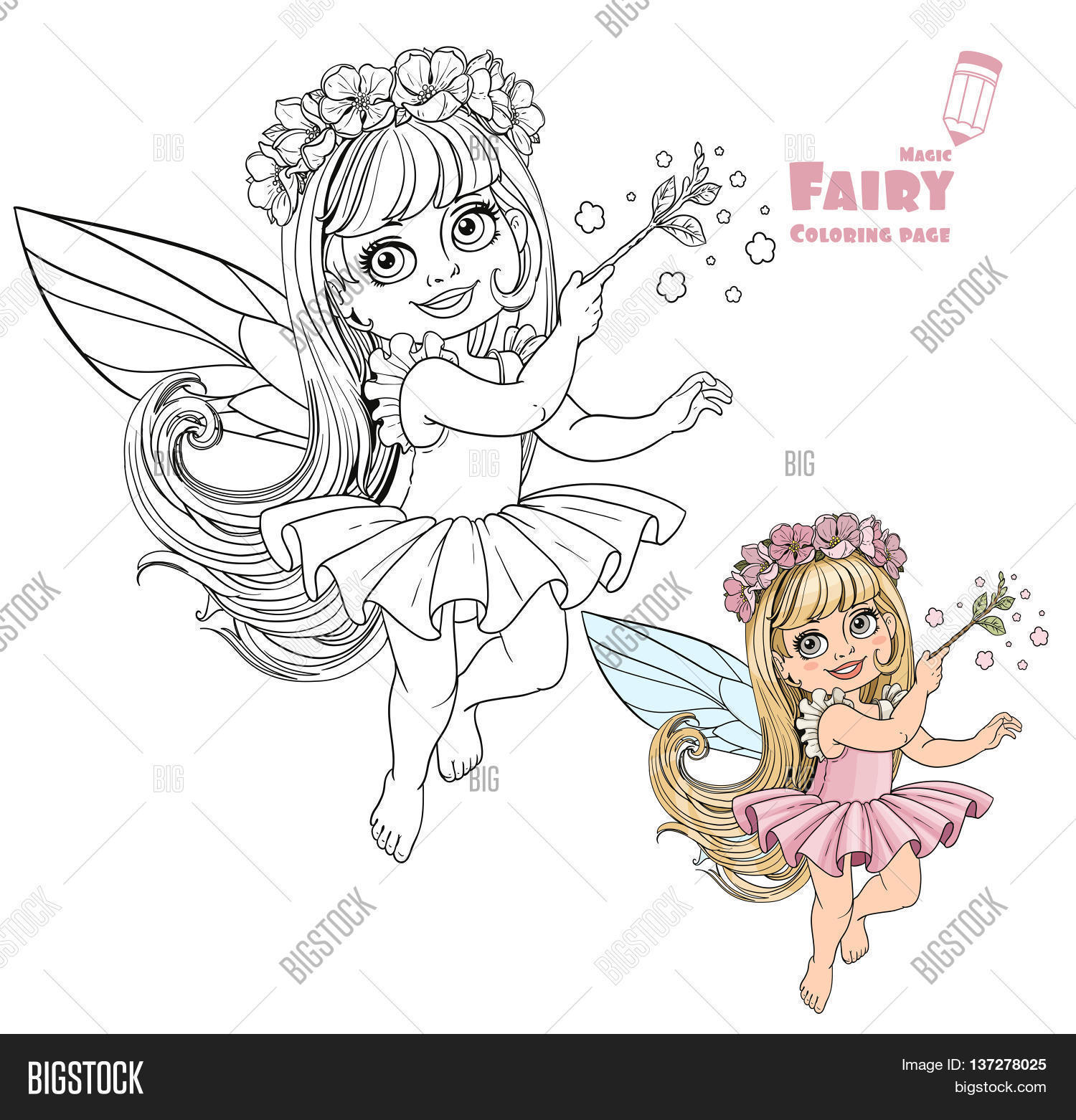 Little Spring Fairy Vector & Photo (Free Trial) | Bigstock