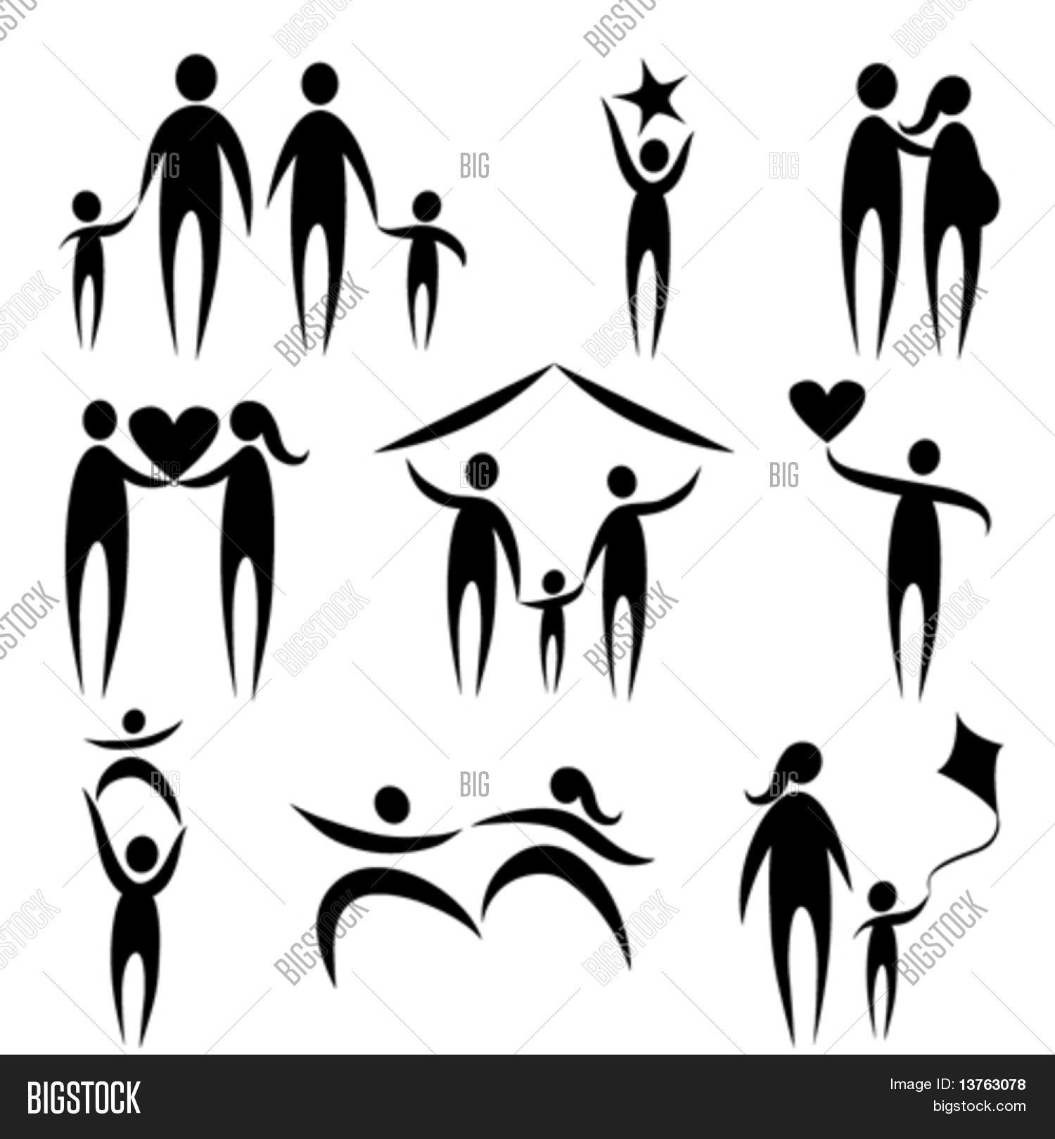 Family Symbols Vector Photo Free Trial Bigstock