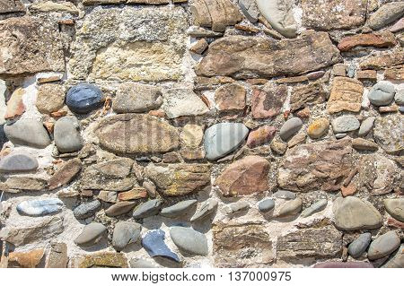 Background of old stone wall texture, castle.