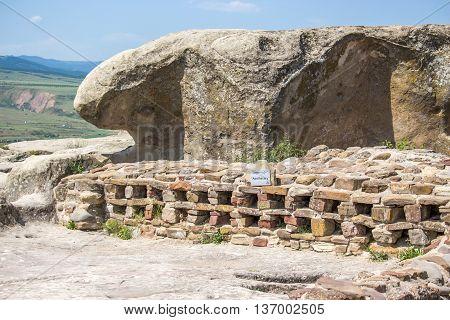 Old cave city Uplistsikhe in Caucasus region Georgia.