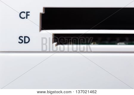 memory card slot. cardreader for information downloading