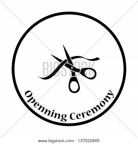 Ceremony Ribbon Cut Icon