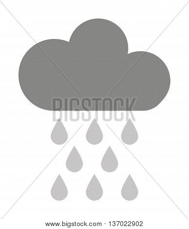 cloud with rain drops  isolated icon design, vector illustration  graphic