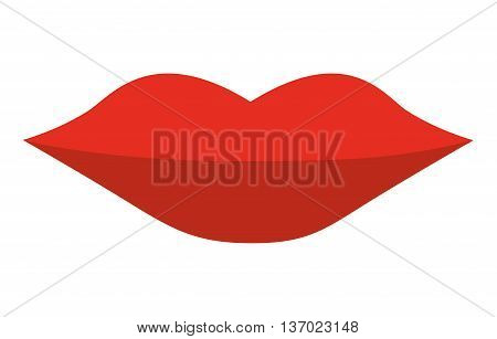female lips isolated icon design, vector illustration  graphic
