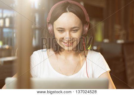 Woman Women Connection Digital Device Internet Concept