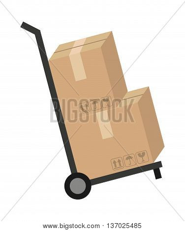 delivery cart isolated icon design, vector illustration  graphic