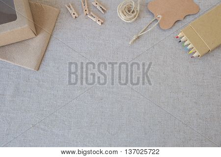Identity branding eco mockup set selective focus toning