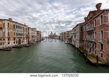Grand Canal And The Santa Maria Della Salute Church