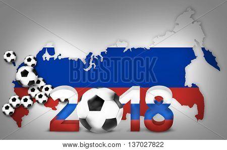 Stadiums 2018 Russian Soccer Football 3D Render Design