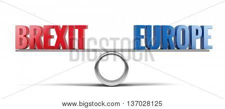 Brexit concept. 3d illustration