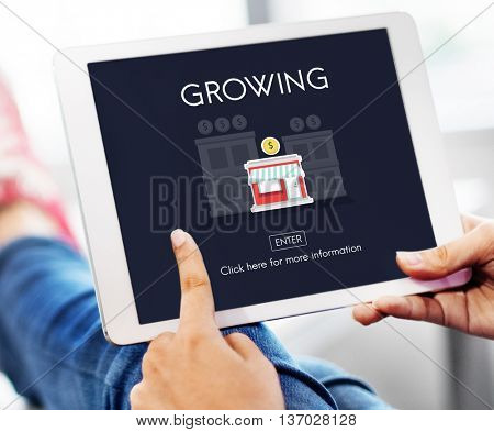 Growing Launch Start up New Business Concept
