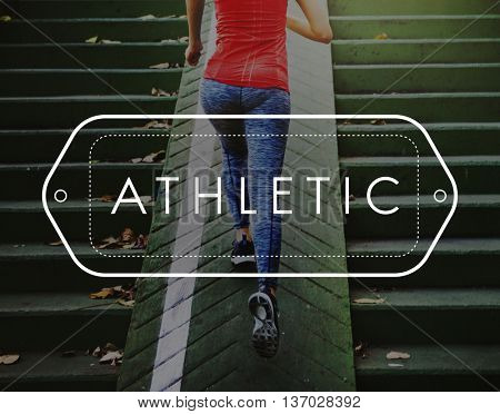 Athletic Health Fitness Sports Wellness Concept