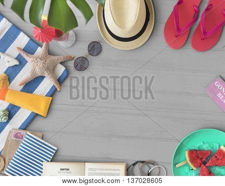 Vacation Travel Summer Beach Starfish Travel Concept
