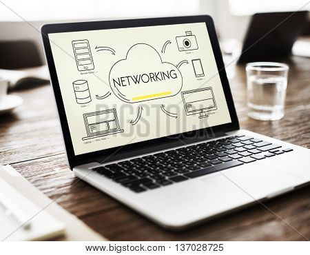 Cloud Sharing Networking Connection Transfer Concept