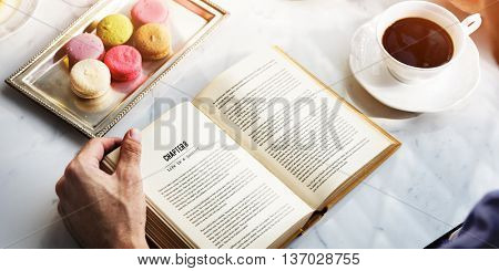 Tea Break Reading Story Concept