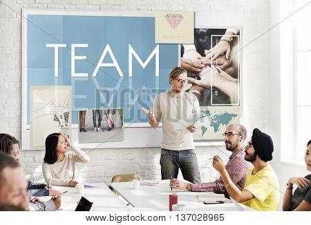 Team Teamwork Help Share Contribute Concept
