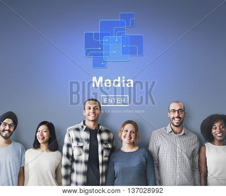Media Social Media Internet Online Technology Concept