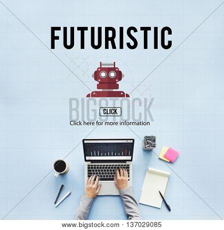 Futuristic Innovation Internet Networking Tech Concept