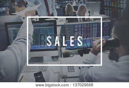 Sales Finance Financial Business Marketing Concept