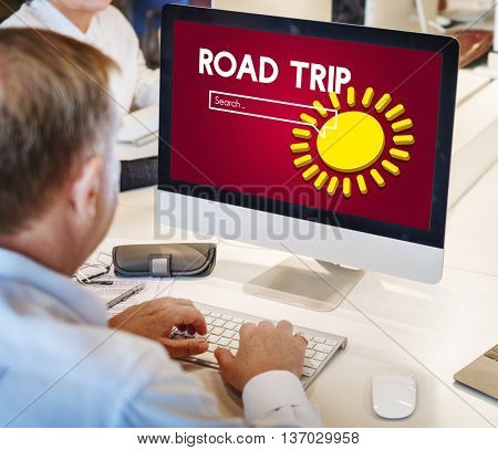 Technology Road Trip Adventure Concept