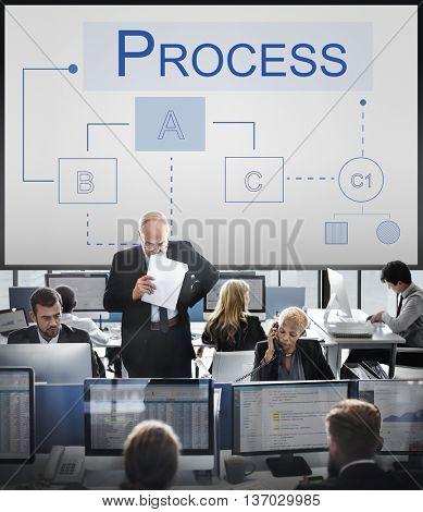 Business Analytics Work Flow Process Project Concept