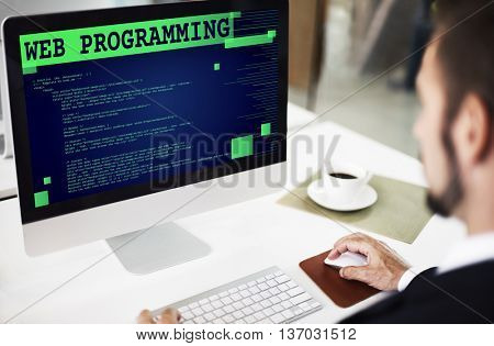 Web Programming Software Developer Technology Concept