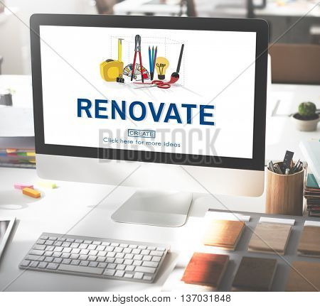 Renovate Renew Creativity Instrument Work Concept